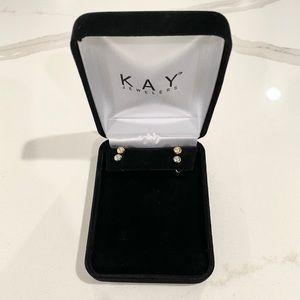 KayJewelers Silver & Gold Studs-2 Sets of Earrings